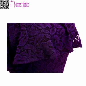 Cóctel de encaje cortado parte del hombro vestido de mujer L36175-2