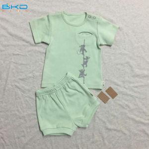 セットされるGotsの赤ん坊の衣服の2パソコンの赤ん坊の衣服