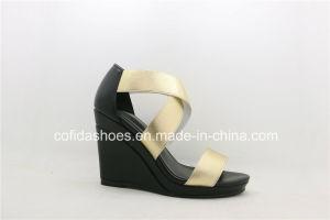 La mode élégante High Heels élastique femmes sandales de filtre en coin
