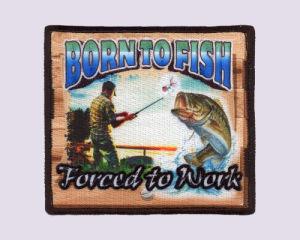 Вышивание+Sublmiation патч- родился на рыбный промысел