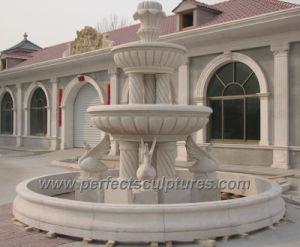 Pierre fontaine de marbre sculpté avec jardin de sculpture fontaine (sy-F357)