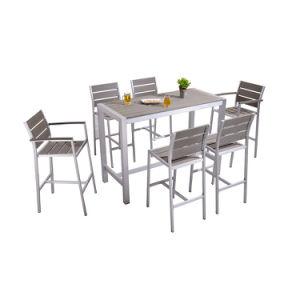 Для использования вне помещений пластика из дерева для отдыхающих в таблице мебель сад бар,