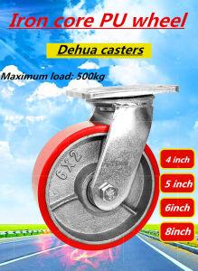 Medio y pesado 5'', núcleo de hierro americano rueda de poliuretano
