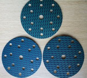 150mm Blue Rhombus-Shaping Oixde aluminio papel de lija Velcro Disc-Sanding Disco sin obstrucciones