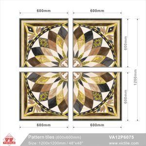 Tegel van het Porselein van China de Bevloering Gevormde met Veelkleurig (VA12P6075, 1200X1200mm)