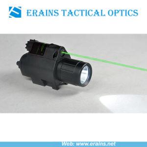 Torcia elettrica di plastica di vista del laser di verde dell'alloggiamento di Lightweighted e 200 del CREE Q5 LED di lumen combinata