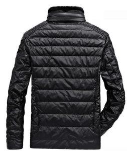 2017 Hot Sale hiver cuir synthétique Down Jacket pour les hommes