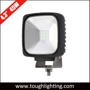 Largura do feixe de Inundação 4.5In Square CREE 45W 4X4wd carro LED das luzes de trabalho