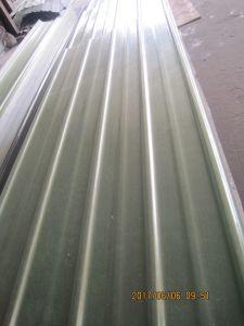 L'imperméabilisation en fibre de verre Feuille de toit ondulé, FRP panneau de toiture en plastique