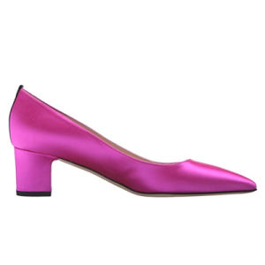 Metallic Stilettos Tacones Pointed-Toe Mayorista de calzado para damas