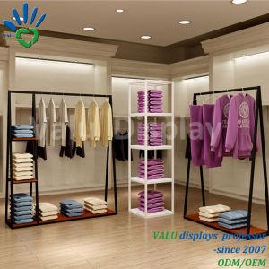 Preiswertes System-passende Kleid-Zahnstangen-Kleidung, die Standplatz hängt