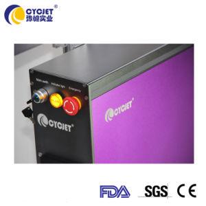 machine de marquage au laser Cycjet impression colorée sur le tuyau en PVC gris