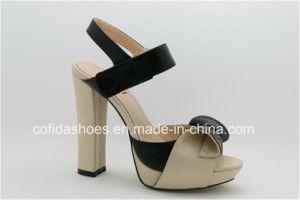 La mode élégante Sweet High Heels femmes Sandales en cuir