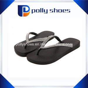 Домашние туфли Rhinestone женщин ремешок Flip флоп сандалии