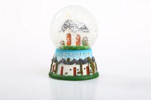 Bol de van uitstekende kwaliteit van de Sneeuw van het Glas van de Hars voor de Herinnering van het Landschap van de Toerist