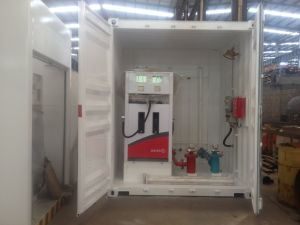 20FT e 40FT hanno messo in contenitori la stazione di servizio portatile con l'erogatore