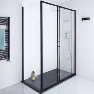 Tipo moderna sala de chuveiro em vidro
