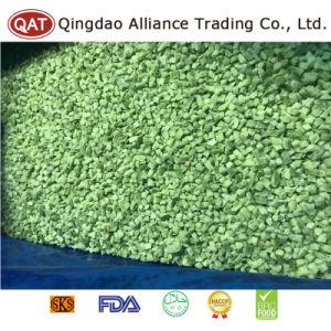 Gefrorener hochwertiger grüner Pfeffer würfelt