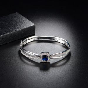 Juwelen van de Armband van het Koper van de Legering van de Manier van de Arduinsteen de Kristal Geparelde