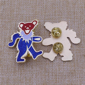 Personalizar Bear Glitter Animal Soft enamel cuello polo