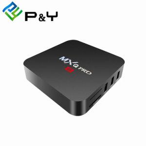 2018 신제품 텔레비젼 상자 Mxq Kodi 17.4 쿼드 코어 4K 가득 차있는 HD 영상을%s 가진 직업적인 S905W 1g 8g 인조 인간 7.1 텔레비젼 상자