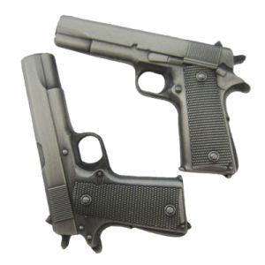 Form-förderndes Geschenk-kundenspezifischer antiker Messinggewehr-Form-MetallreversPin (187)