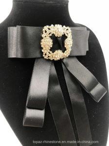 Elegante Broche voor de Broche van het Bergkristal van de Verkoop voor Broche Bowknot van het Kostuum van Vrouwen de Zwarte (EB05)