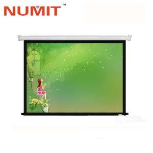 Под действием электропривода складной проектор для домашнего экрана