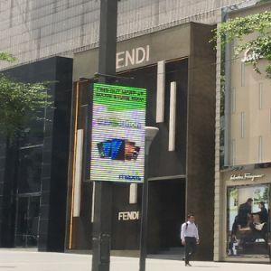 L'extérieur de l'écran étanche de la rue lampadaire P4 plein écran LED de couleur