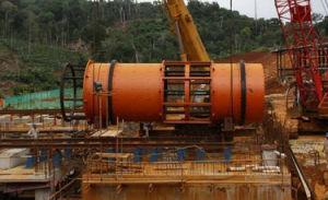 De grote Alluviale Gouden Alluviale Diamant die van de Capaciteit de Gaszuiveraar van de Roterende Trommel wassen