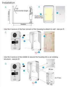 Беспроводной и проводной телефон двери аудио и видео для домашних систем безопасности