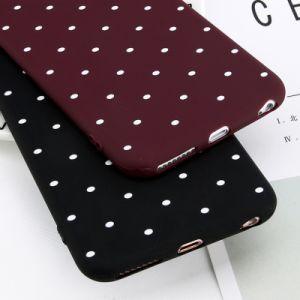 iPhone Xのためのかわいい点の電話箱のワインレッドの携帯電話の箱8 7 6 6sと
