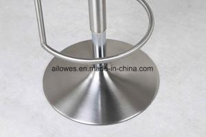 Alto sgabello dell'unità di elaborazione del tessuto della sede della parte girevole di gas della molla della barra registrabile di cuoio moderna dell'acciaio inossidabile per il randello