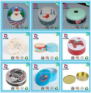 Metal personalizados Round doces de chocolate Dom Embalagem embalagem Caixa de estanho