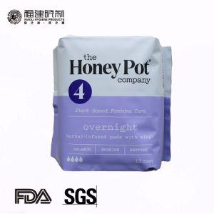 Algodón orgánico de largas noches toalla sanitaria 338mm