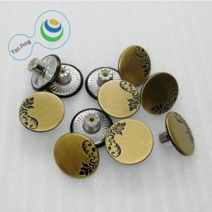 Botón de metal de aleación de socorro para camisa/vestido/Jeans (FA137-19)
