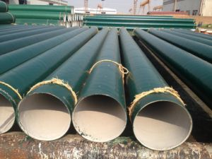 螺線形によって溶接される反-腐食の鋼管