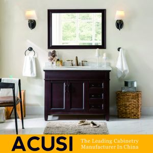 Amerikanischer Moderner Art Eichen Festes Holz Badezimmer Schrank (ACS1 W34)