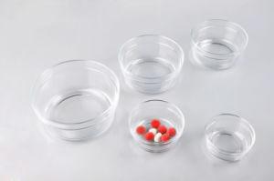 台所Glasswaresのガラス卓上砂糖入れはふたによってセットした