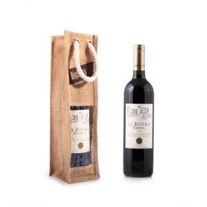 Sacchetto poco costoso del vino di alta qualità del commercio all'ingrosso del regalo di Chirstmas del sacchetto della bottiglia del regalo del vino della iuta