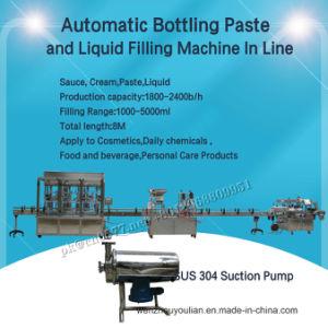 Frasco de vidrio de 6 cabezales automática cosmética Mineral bebida agua aceite de crema de yogur líquido embotellado de llenado de jugo de la máquina