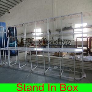 Beweglichen vielseitig begabten mehrfachverwendbaren modularen Ausstellung-Standplatz aufbauen und installieren