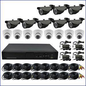 2.0MP HD DVR Installationssätze 16CH CCTV-Kamera-Systems-inländisches Wertpapier DVR