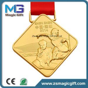 صنع وفقا لطلب الزّبون معدن نوع ذهب [مرتيل رت] [كونغفو] وسام مع تصميد مرس
