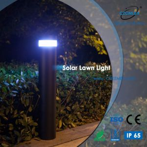 LED de aluminio exterior césped Energía Solar para Jardín de Luz