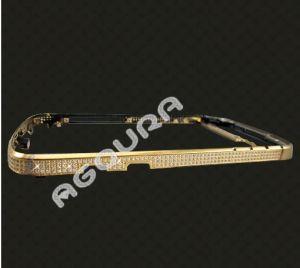 2014 El oro negro de alta calidad con bastidor de diamantes para Blackberry Q10
