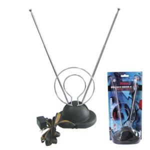 Antena de TV interior com adaptador de antena de coelho (ZQ-012B)