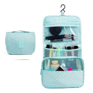 Poliéster de portátil femenino Viajes colgando de la bolsa de cosméticos Bolsa de lavado de almacenamiento