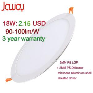 3W-24W 100lm/W Ultra Slim empotrable de panel LED Empotrables/ abajo de la luz de techo con 3 años de garantía.