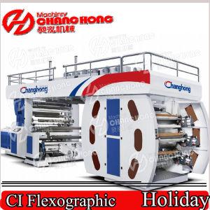 4 Color flexográfica Máquina Impresora